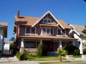 The fully restored Los Angeles (West Adams) former residence of the Stevenor Dale family